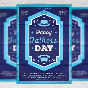 Download Happy Fathers Day PSD Flyer Template Now