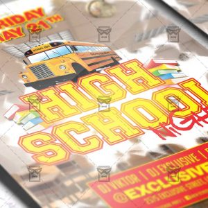 Download Hight School Night PSD Flyer Template Now