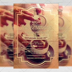 Download High Tea Ceremony PSD Flyer Template Now