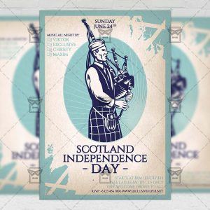 Download Independence Day of Scotland PSD Flyer Template Now