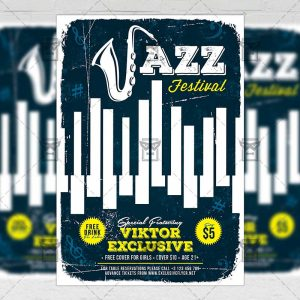 Download Jazz Festival PSD Flyer Template Now