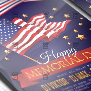 Download Memorial Day Flyer PSD Flyer Template Now