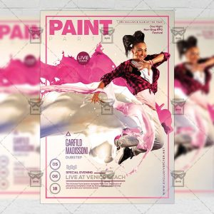 Download Paint Party PSD Flyer Template Now