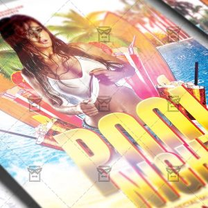 Download Pool Night PSD Flyer Template Now