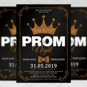 Download Prom Night PSD Flyer Template Now