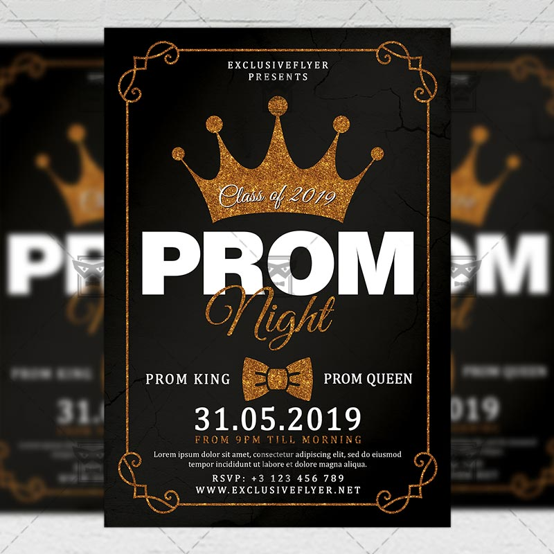 Prom Night Flyer Seasonal A5 Template
