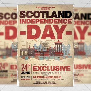 Download Scotland Independence Day PSD Flyer Template Now