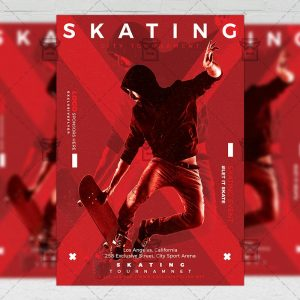 Download Skating PSD Flyer Template Now