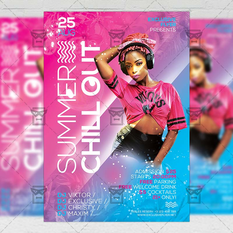 Seasonal A5 Flyer Template: Summer Chill Out Flyer
