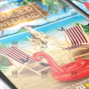 Download Summer Weekend PSD Flyer Template Now