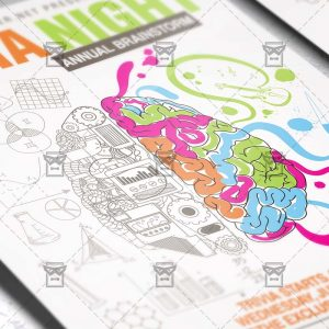 Download Trivia Night PSD Flyer Template Now