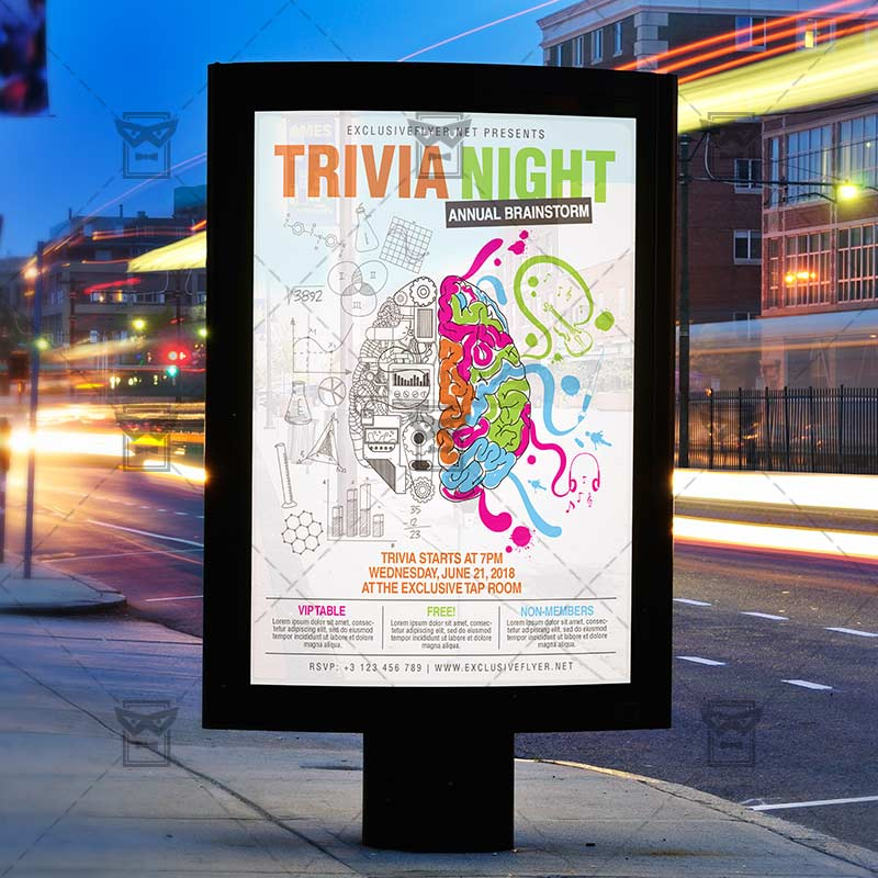 Trivia Night – Community A5 Flyer Template   ExclsiveFlyer   Free ...