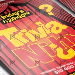 Download Trivia Night Flyer PSD Flyer Template Now