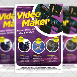 Download Videomaker PSD Flyer Template Now