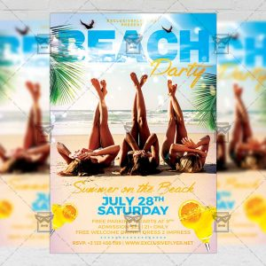 Download Beach Party PSD Flyer Template Now