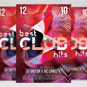 Download Best Club Hits PSD Flyer Template Now