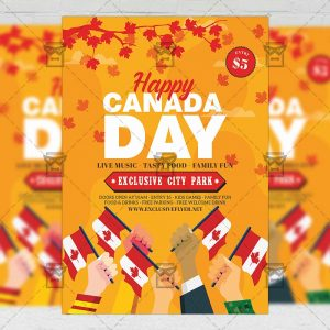 Download Canada Day PSD Flyer Template Now
