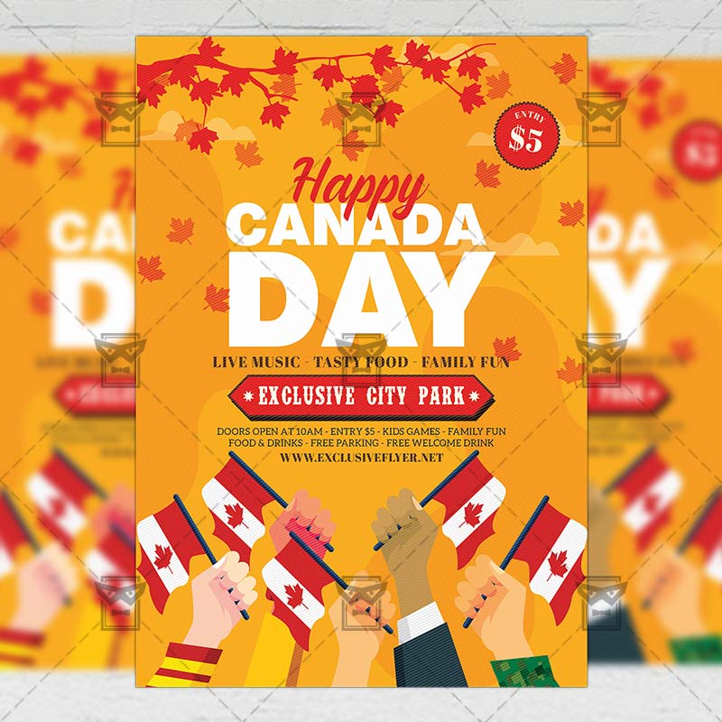 canada day flyer club a5 template exclsiveflyer free and premium psd templates. Black Bedroom Furniture Sets. Home Design Ideas