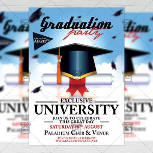 Download Graduation Flyer PSD Template Now