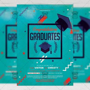 Download Graduation Party Flyer PSD Template Now