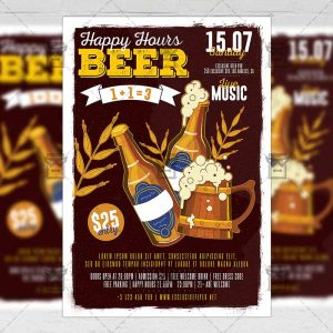 Download Happy Hours PSD Flyer Template Now