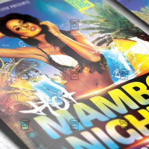Download Hot Mambo Nights PSD Flyer Template Now
