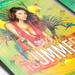 Download Latin Summer PSD Flyer Template Now