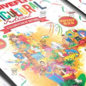 Download Multicultural Festival PSD Flyer Template Now