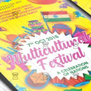 Download Multicultural Festival Flyer PSD Template Now