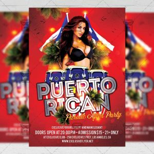 Download Puerto Rican Parade After Party PSD Flyer Template Now