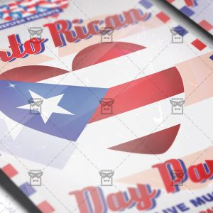 Download Puerto Rican Parade PSD Flyer Template Now