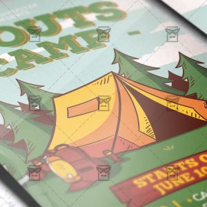 Download Scouts Camp PSD Flyer Template Now
