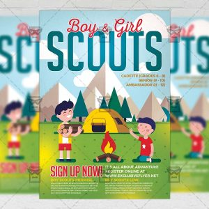 Download Scouts PSD Flyer Template Now