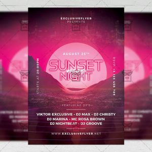 Download Sunset Night PSD Flyer Template Now