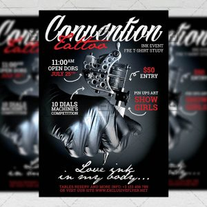 Download Tattoo Convention PSD Flyer Template Now