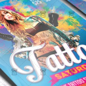Download Tattoo Saturdays PSD Flyer Template Now