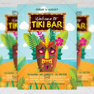 Download Tiki Bar PSD Flyer Template Now
