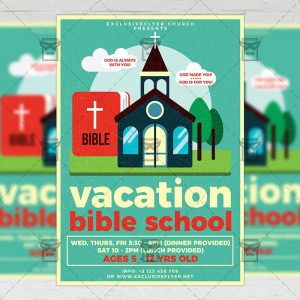Download Vacation Bible School PSD Flyer Template Now