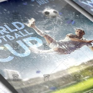 Download World Football Cup PSD Flyer Template Now