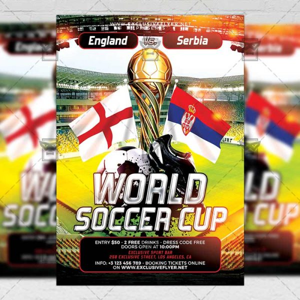 Download World Soccer Cup PSD Flyer Template Now