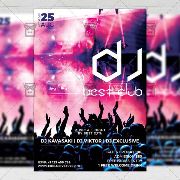 Download Best Club Dj PSD Flyer Template Now