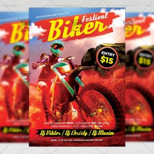 Download Biker Festival PSD Flyer Template Now