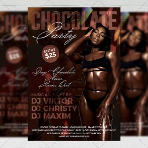 Download Chocolate Party PSD Flyer Template Now
