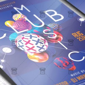 Download Club Music Night PSD Flyer Template Now