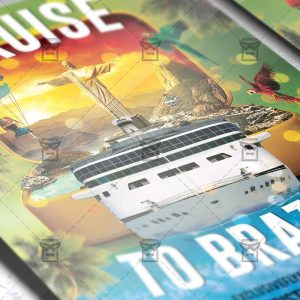 Download Cruise to Brazil PSD Flyer Template Now