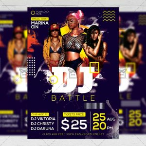 Download Dj Battle Party PSD Flyer Template Now
