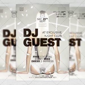 Download Dj Guest Night PSD Flyer Template Now