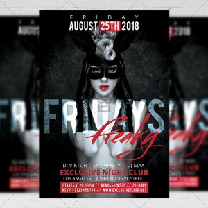 Download Freaky Fridays PSD Flyer Template Now