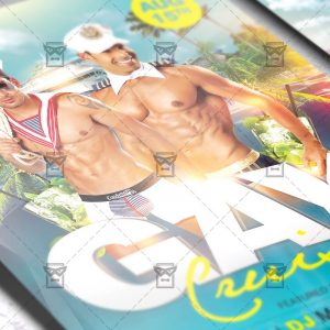 Download Gay Cruise PSD Flyer Template Now