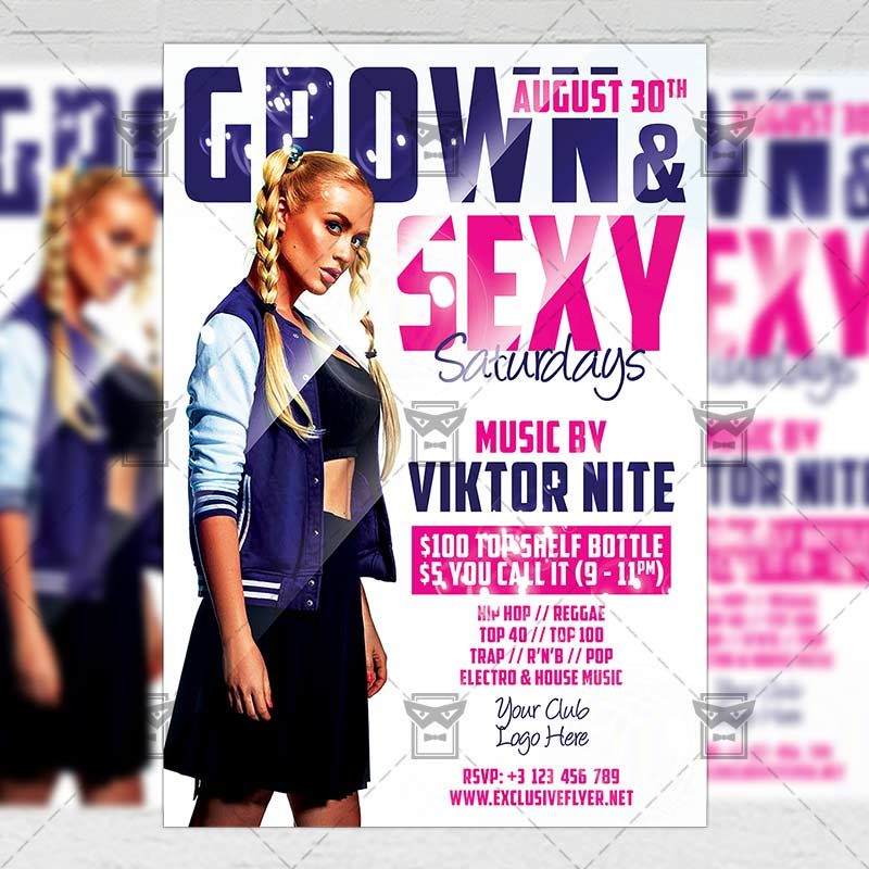 Grown and Sexy Flyer – Club A5 Template